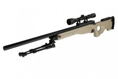 Airsoft snaiperinio šautuvo komplektas WELL MB01 L96A1 Tan 3