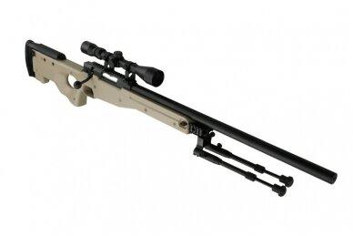 Airsoft snaiperinio šautuvo komplektas WELL MB01 L96A1 Tan 4