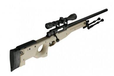 Airsoft snaiperinio šautuvo komplektas WELL MB01 L96A1 Tan 5