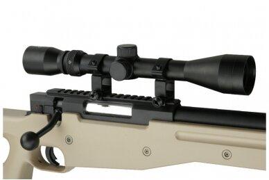 Airsoft snaiperinio šautuvo komplektas WELL MB01 L96A1 Tan 6