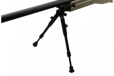 Airsoft snaiperinio šautuvo komplektas WELL MB01 L96A1 Tan 7