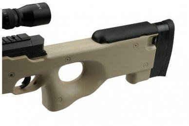 Airsoft snaiperinio šautuvo komplektas WELL MB01 L96A1 Tan 8