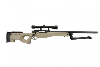 Airsoft snaiperinio šautuvo komplektas WELL MB01 L96A1 Tan 2