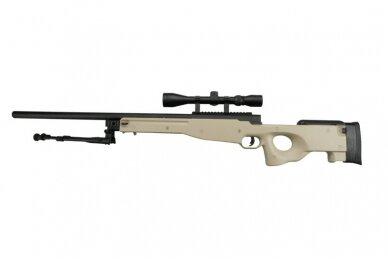 Airsoft snaiperinio šautuvo komplektas WELL MB01 L96A1 Tan 9