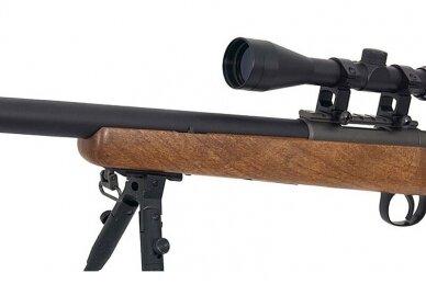 Airsoft snaiperinis šautuvas MB03 (Wood) 11