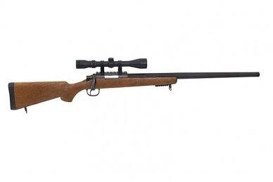 Airsoft snaiperinis šautuvas MB03 (Wood) 3
