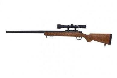 Airsoft snaiperinis šautuvas MB03 (Wood) 5