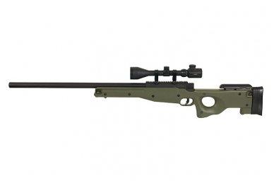 Airsoft snaiperinio šautuvo komplektas WELL MB01 L96A1 Žalias 4