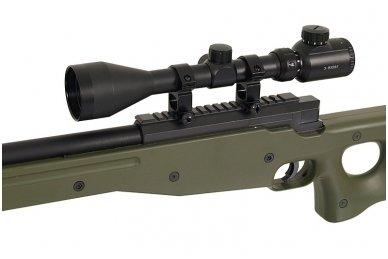 Airsoft snaiperinio šautuvo komplektas WELL MB01 L96A1 Žalias 7
