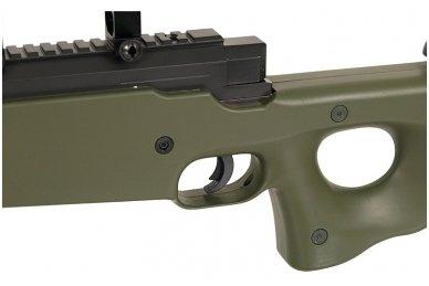 Airsoft snaiperinio šautuvo komplektas WELL MB01 L96A1 Žalias 6