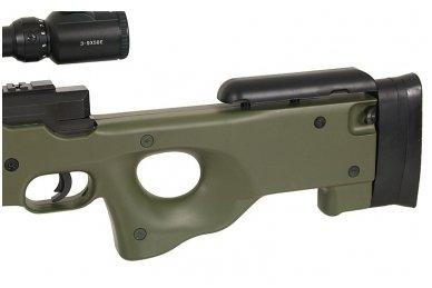 Airsoft snaiperinio šautuvo komplektas WELL MB01 L96A1 Žalias 9