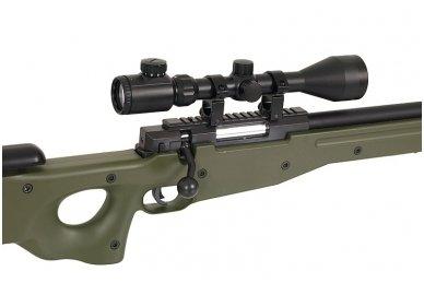 Airsoft snaiperinio šautuvo komplektas WELL MB01 L96A1 Žalias 10