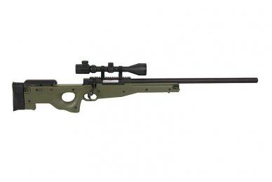 Airsoft snaiperinio šautuvo komplektas WELL MB01 L96A1 Žalias 5