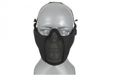 Apsauginė veido kaukė Half face mesh mask 2.0 - Juoda