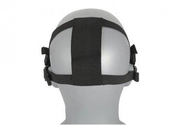 Apsauginė veido kaukė Half face mesh mask 2.0 - Juoda 3
