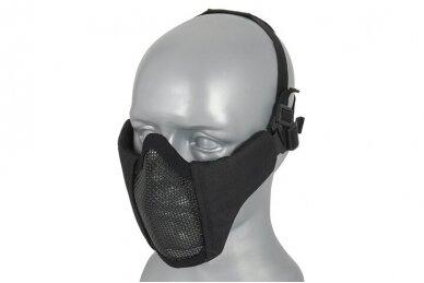 Apsauginė veido kaukė Half face mesh mask 2.0 - Juoda 2