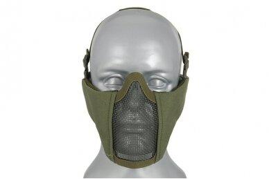 Apsauginė veido kaukė Half face mesh mask 2.0 - Olive