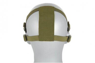 Apsauginė veido kaukė Half face mesh mask 2.0 - Olive 3