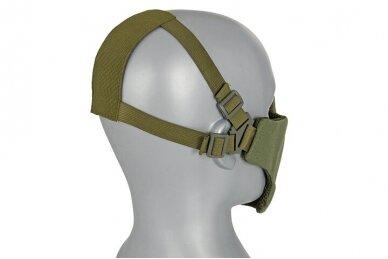Apsauginė veido kaukė Half face mesh mask 2.0 - Olive 4