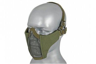 Apsauginė veido kaukė Half face mesh mask 2.0 - Olive 2
