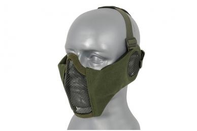 """Apsauginė veido kaukė su ausų apsauga """"Stalker Evo Mask"""" Olive 2"""