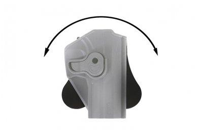 Aukštos kokybės polimero dėklas S&W M&P 9 pistoletui 8
