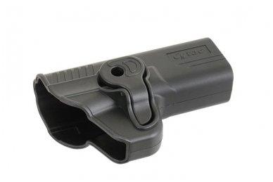 Aukštos kokybės polimero dėklas S&W M&P 9 pistoletui 9