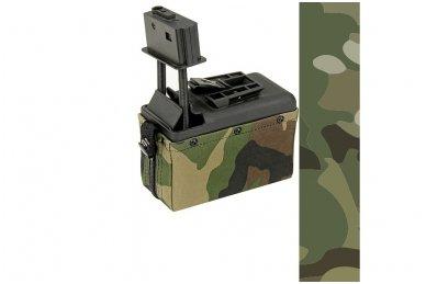 Elektrinė dėtuvė airsoft kulkosvaidžiui M249 MULTICAM [A&K] 1500 šovinių