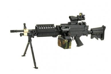 Elektrinė dėtuvė airsoft kulkosvaidžiui M249 - WOODLAND [A&K] 1500 šovinių 11