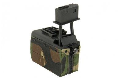 Elektrinė dėtuvė airsoft kulkosvaidžiui M249 - WOODLAND [A&K] 1500 šovinių 3