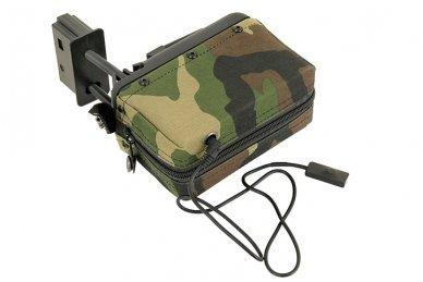 Elektrinė dėtuvė airsoft kulkosvaidžiui M249 - WOODLAND [A&K] 1500 šovinių 4