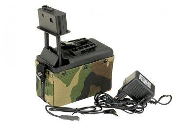 Elektrinė dėtuvė airsoft kulkosvaidžiui M249 - WOODLAND [A&K] 1500 šovinių 5