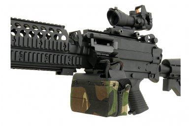 Elektrinė dėtuvė airsoft kulkosvaidžiui M249 - WOODLAND [A&K] 1500 šovinių 8
