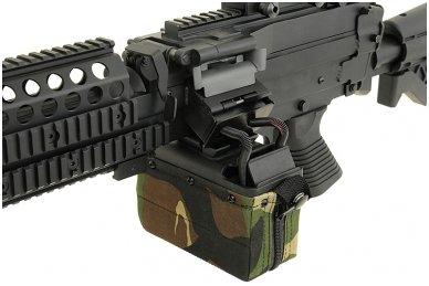 Elektrinė dėtuvė airsoft kulkosvaidžiui M249 - WOODLAND [A&K] 1500 šovinių 9