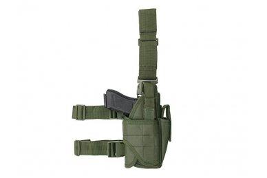 Universalus pistoleto dėklas su tvirtinimu prie kojos (Žalias) 4
