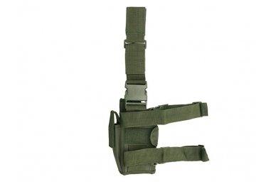 Universalus pistoleto dėklas su tvirtinimu prie kojos (Žalias) 2