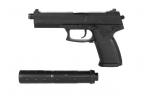MK23 Assasin pistoletas su garso slopintuvu