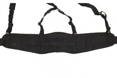 """""""Patrol belt"""" molle diržas su petnešomis juodas 2"""