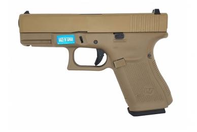 Šratasvydžio pistoletas Glock 19 Gen 5 (Smėlio)