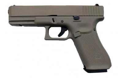 Šratasvydžio pistoletas WE Glock 17 Gen. 5 (Tan)
