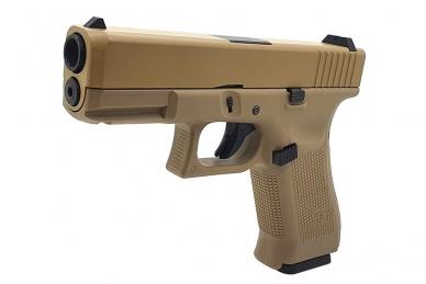 Šratasvydžio pistoletas WE Glock 19 XL Gen. 5 (Tan) 3