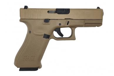 Šratasvydžio pistoletas WE Glock 19 XL Gen. 5 (Tan) 2